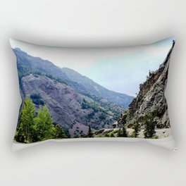 Driving the Spectacular, but Perilous Uncompahgre Gorge, No. 3 of 6 Rectangular Pillow