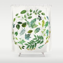 Circle of Leaves Shower Curtain