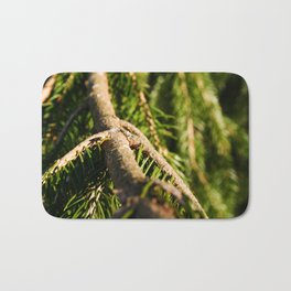 Warm Sappy Pine Branch Bath Mat