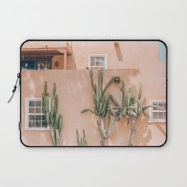 Pink House With Cactus Laptop Sleeve