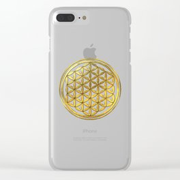 Golden Flower Of Life Clear iPhone Case