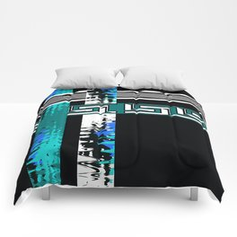 Vintage .Art . Intertwining colored bands . Retro . Comforters