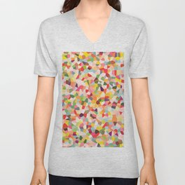 Colorful Shapes 2 Unisex V-Neck