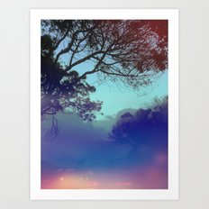Santa Barbara - The fog rolled in and my mind rolled out. Art Print
