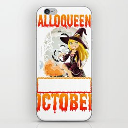 October Birthday Gifts_ Funny Halloween Costumes iPhone Skin