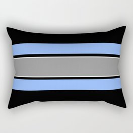 Team Colors 2...Light blue , gray Rectangular Pillow