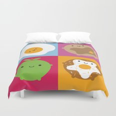 Kawaii Breakfast Duvet Cover