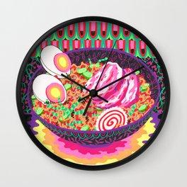 Neon Ramen Wall Clock
