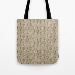 Sepia Knit Textured Pattern Tote Bag