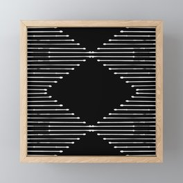 Geo / Black Framed Mini Art Print