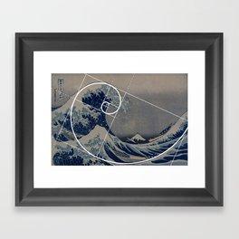Hokusai Meets Fibonacci Framed Art Print