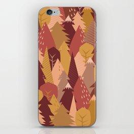 warm autumn woods iPhone Skin