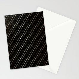 SKULLS PATTERN - BLACK & GOLD - SMALL Stationery Cards