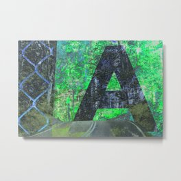 A is for Adventure Metal Print