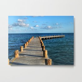 Docking In (Mexico) Metal Print