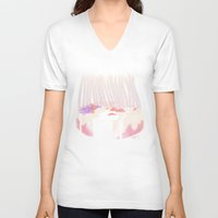 cake V-neck T-shirts featuring Cake by Hayley Powers Studio