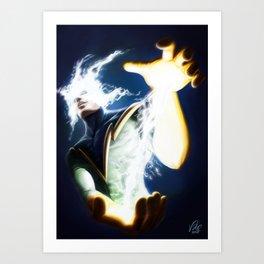 Electro Portrait Art Print
