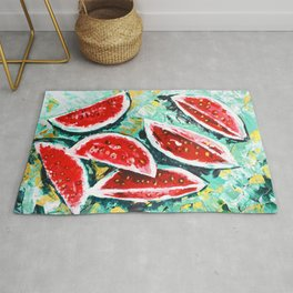 watermelon acrylic art Rug