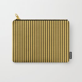 Spicy Mustard and Black Stripes Carry-All Pouch