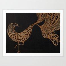 Golden Bird #1 Art Print