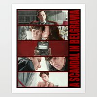 scandal Art Prints featuring A Scandal in Belgravia by Alessia Pelonzi