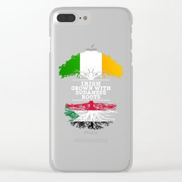 Irish Grown With Sudanese Roots Clear iPhone Case