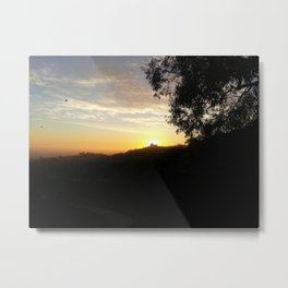 Sunset at Griffith Observatory Metal Print