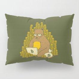 Bitcoin Miner T-shirt Bear Pillow Sham