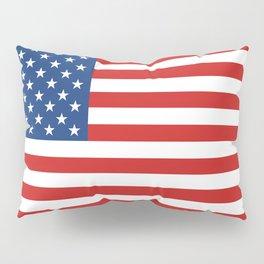 Classic Patriotic American Flag Illustration Pillow Sham