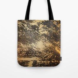 Gold on Black Tote Bag