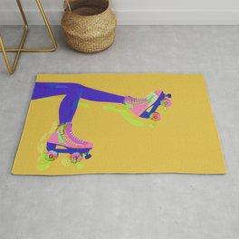 Roller Girl Skates Up - Yellow Rug