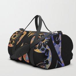 Floral Skull Duffle Bag