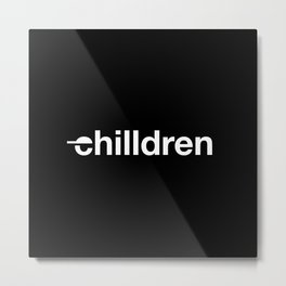 chilldren basic logo Metal Print