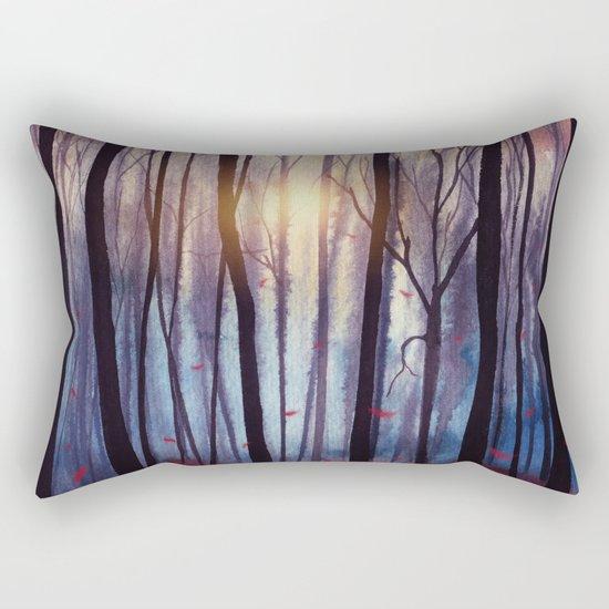 Red Feather Dance Rectangular Pillow