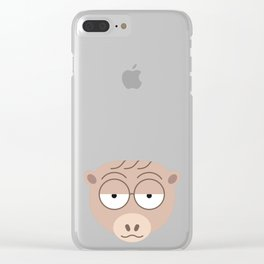 Sluggish Monkey Clear iPhone Case