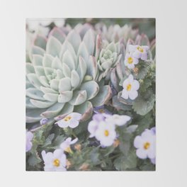 Echeveria 1  //  The Succulent & Cactus Series Throw Blanket
