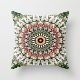 Lovely healing Mandala in brilliant colors Throw Pillow