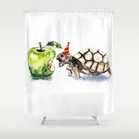 turtle Shower Curtains featuring Turtle by Anna Shell