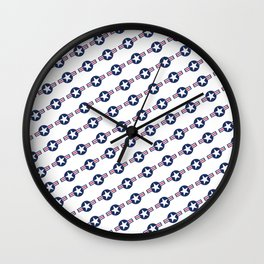US Air force Style insignia Pattern Wall Clock