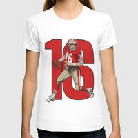 nfl T-shirts featuring NFL Legends: Joe montana 49ers by Akyanyme