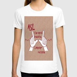 ASL Most Beautiful Language T-shirt