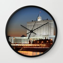 The White House. Moscow. Wall Clock