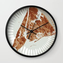 Pizza Map Wall Clock