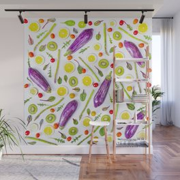 Fruits and vegetables pattern (29) Wall Mural