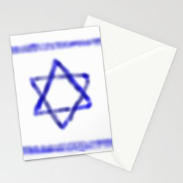 flag of israel with cloudy colors Stationery Cards