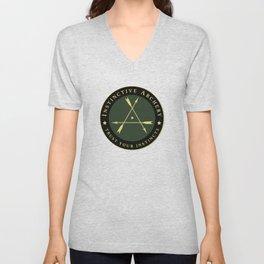 Instinctive Archery - Official Patch Tshirt - July 2017 Unisex V-Neck