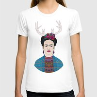 frida T-shirts featuring DEER FRIDA by Bianca Green