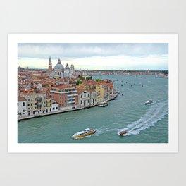 Venetian Sail Away Art Print