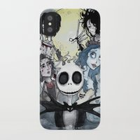 tim burton iPhone & iPod Cases featuring Burton Madness by Infell