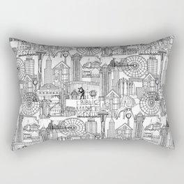 Seattle black white Rectangular Pillow